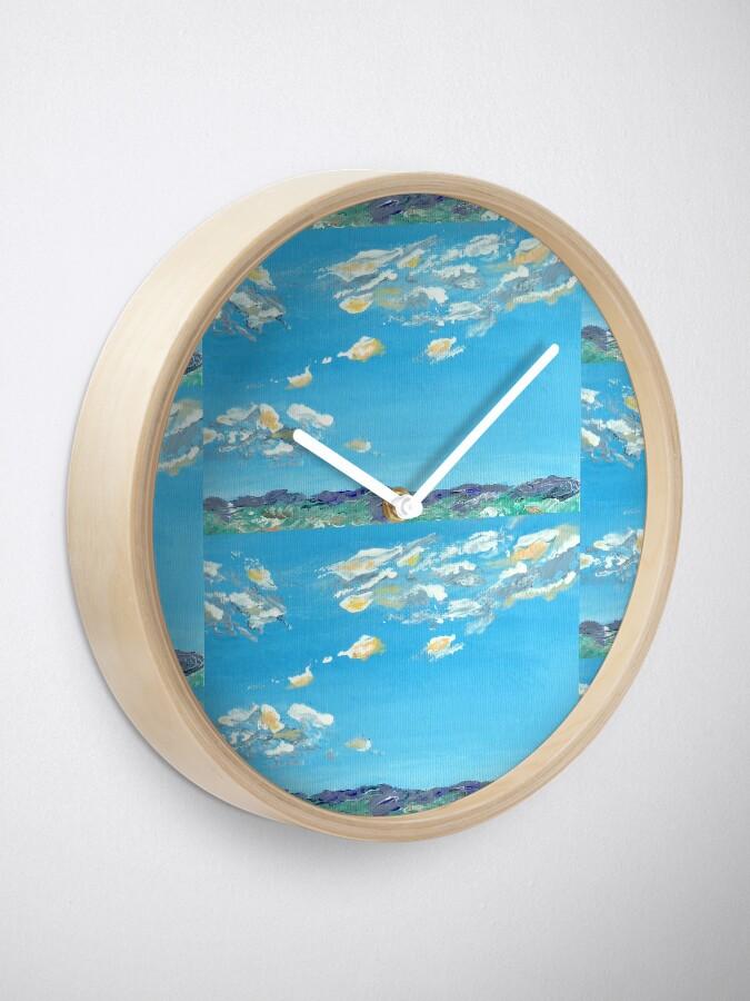 Alternate view of Light clouds in blue sky Clock