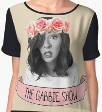 The Gabbie Show flower crown  Women's Chiffon Top