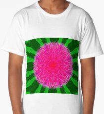 Large pink flower Long T-Shirt