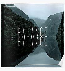 Balance: Mirrored in Square Poster
