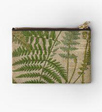 vintage foliage hipster botanical print fern leaves Studio Pouch