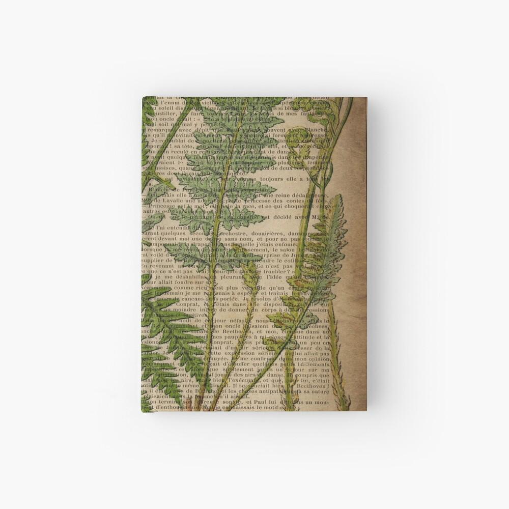 vintage foliage hipster botanical print fern leaves Hardcover Journal