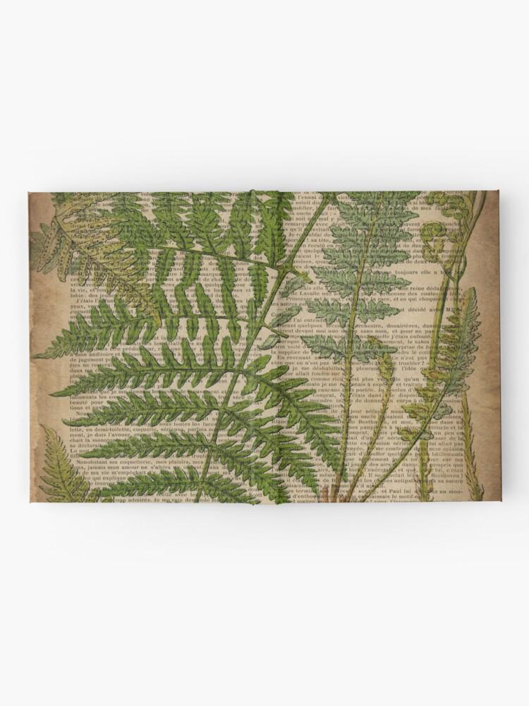 Alternate view of vintage foliage hipster botanical print fern leaves Hardcover Journal