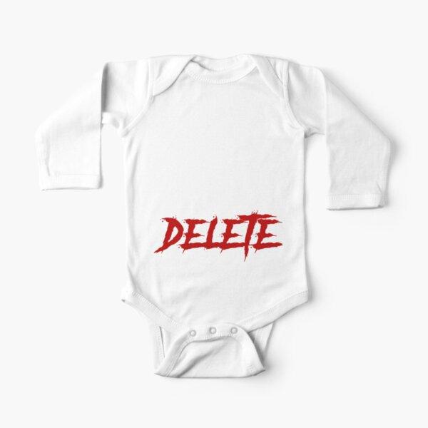 Eat Sleep Delete Repeat Long Sleeve Baby One-Piece