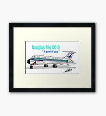 North Central DC-9 Framed Print