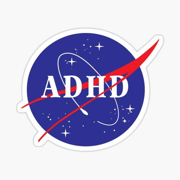 ADHD Space SHirt Sticker