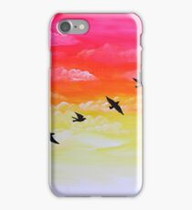 Sparrows at Sunset iPhone Case/Skin
