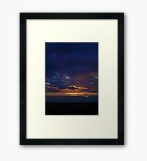 Sunset from Shangri-la (Portrait) Framed Print