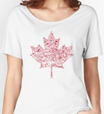 Maple Leaf - red Women's Relaxed Fit T-Shirt