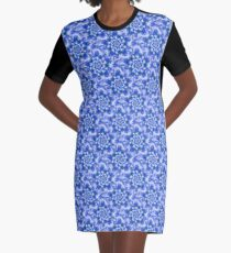 Tiling Snowflake Fractal Graphic T-Shirt Dress
