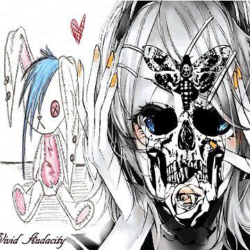 EMO  BUNNY SKULL LADY by VividAudacity