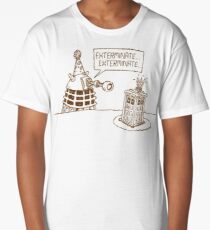 Dalek vs Tardis Birthday Cake  Long T-Shirt