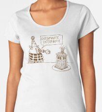 Dalek vs Tardis Birthday Cake  Women's Premium T-Shirt