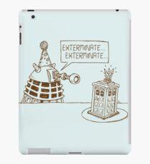 Dalek vs Tardis Birthday Cake  iPad Case/Skin