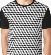High Contrast Cube Optical Illusion Graphic T-Shirt