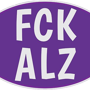 FCK ALZ Oval (Dark Background) by fckalz