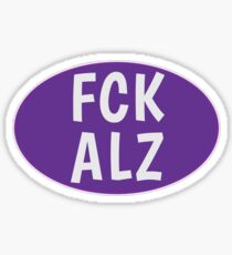 FCK ALZ Oval (Dark Background) Sticker