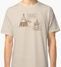 Dalek vs Tardis Birthday Cake  Classic T-Shirt