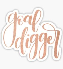 Rose Gold Goal Digger Sticker
