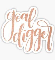 Rose Gold Goal Digger Sticker