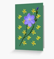 Purple Wildflower and Yellow Daisies Greeting Card