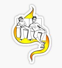 Procrastinate - flame drop Sticker
