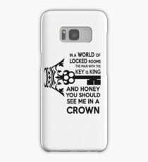 Moriarty Key Quote - Black Text Samsung Galaxy Case/Skin