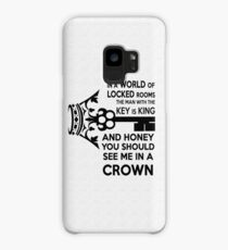 Moriarty Key Quote - Black Text Case/Skin for Samsung Galaxy