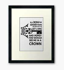 Moriarty Key Quote - Black Text Framed Print