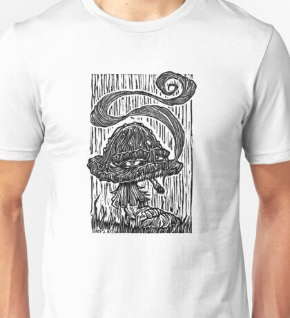 """Stoned Shroom"" Woodcut  T-Shirt"