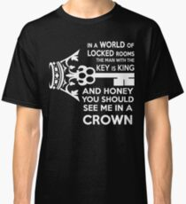 Moriarty Key Quote - White Text Classic T-Shirt