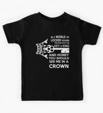 Moriarty Key Quote - White Text Kids Tee