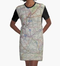 Map Graphic T-Shirt Dress
