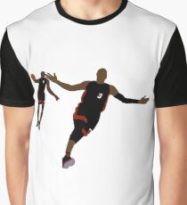 Dwyane Wade Lob To LeBron James Graphic T-Shirt