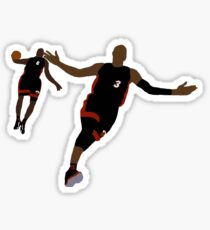 Dwyane Wade Lob To LeBron James Sticker