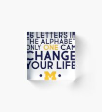 26 Letters - Great for grad cards! Acrylic Block