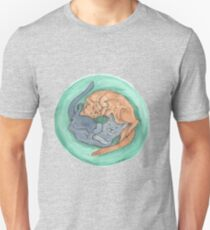 Lazy Cats - Watercolor Unisex T-Shirt