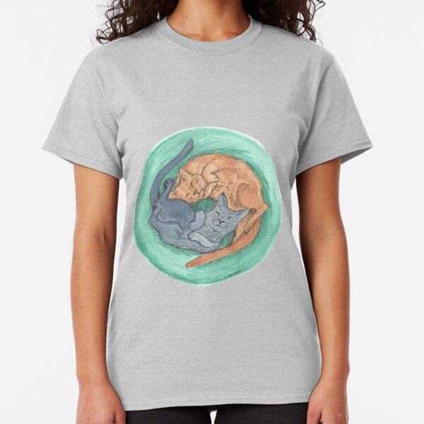 Lazy Cats - Watercolor Classic T-Shirt