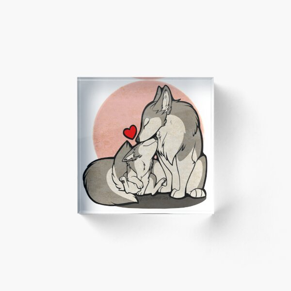 Fathers & Mothers Day Canines Acrylic Block