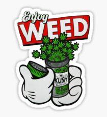 Astronauta marijuana Sticker