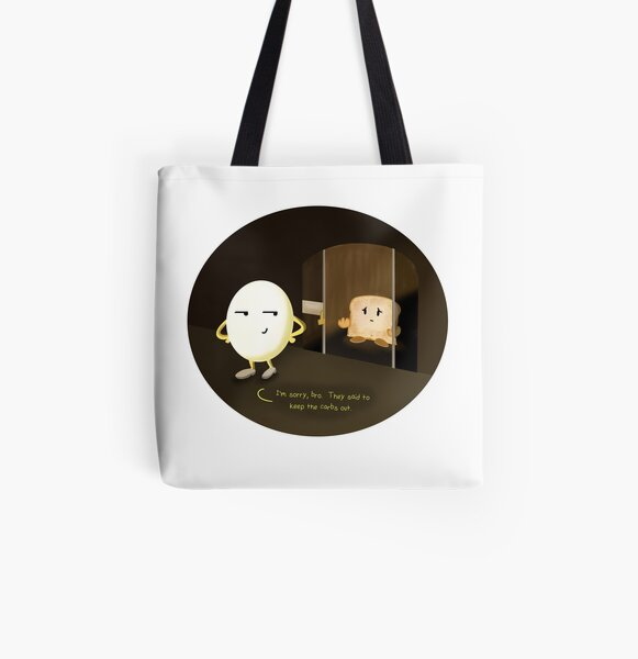 Keep the Carbs Out All Over Print Tote Bag