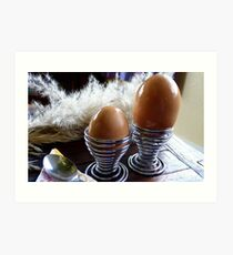 Large or Small - Eggs - NZ - Southland  Art Print