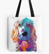 cocker spaniel watercolor pet portrait | Ma'am Tote Bag