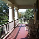 Front Porch at Houmas House by Forget-me-not