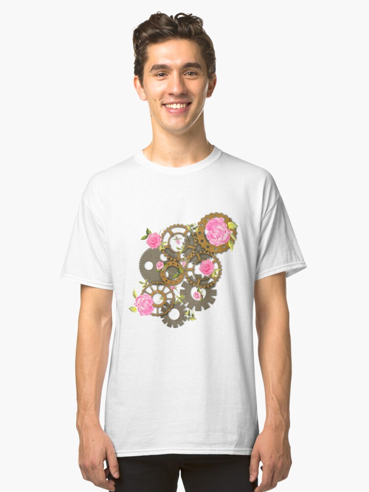 Roses in the Machine Classic T-Shirt Front