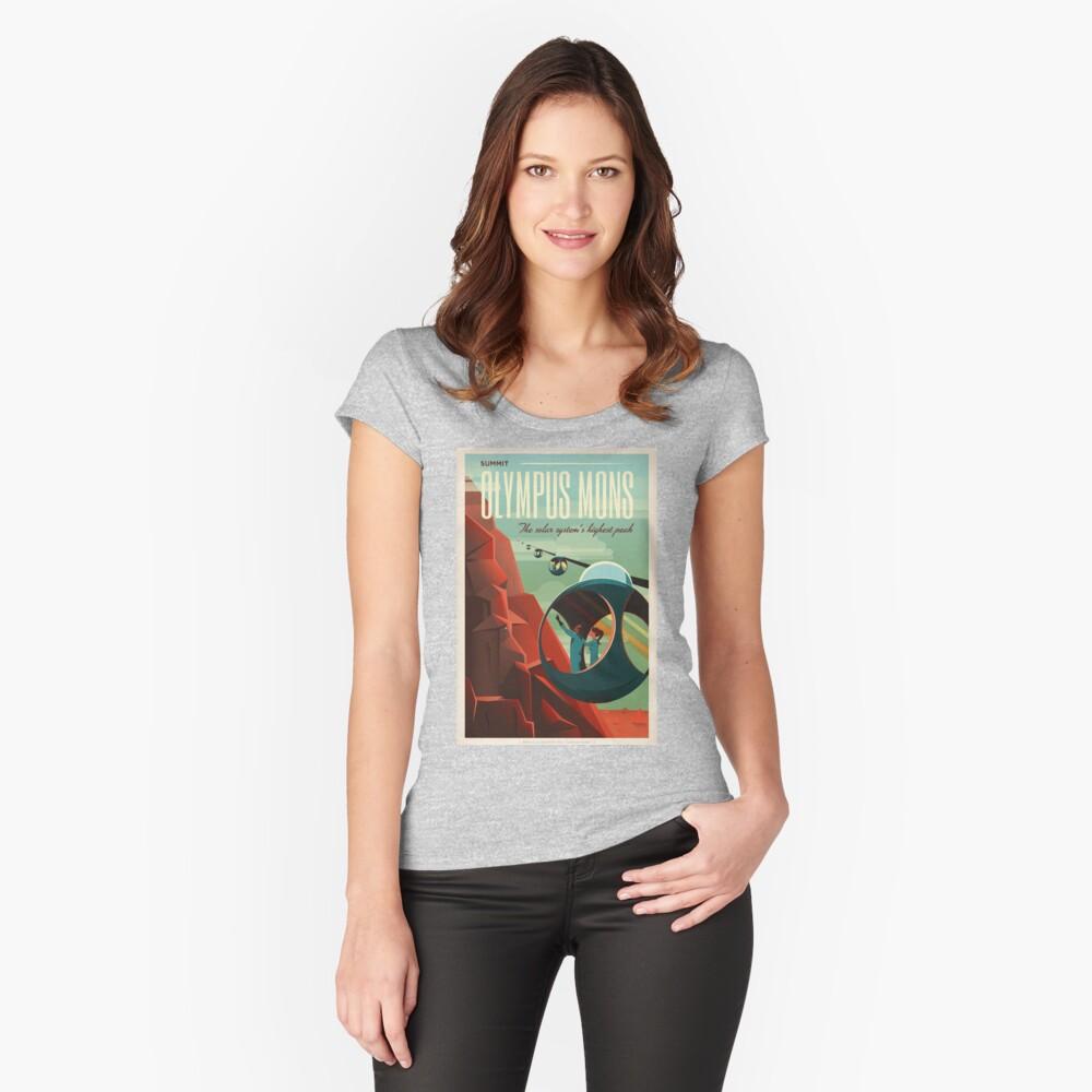 SpaceX Mars Kolonisations- und Tourismusverband: Olympus Mons Tailliertes Rundhals-Shirt