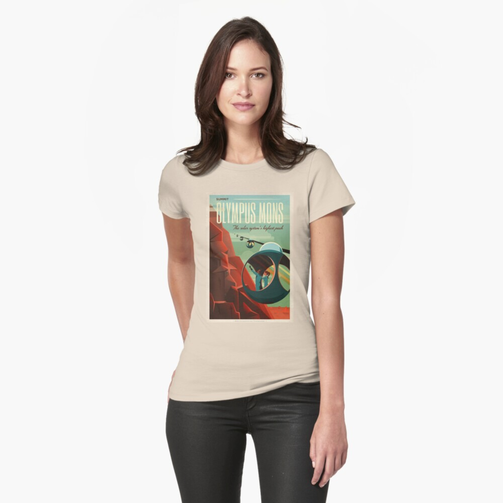 SpaceX Mars Kolonisations- und Tourismusverband: Olympus Mons Tailliertes T-Shirt