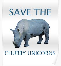 Save The Chubby Unicorns! Poster