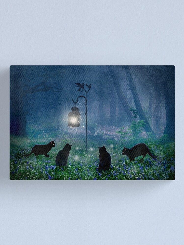 Alternate view of The Witches Cats Canvas Print