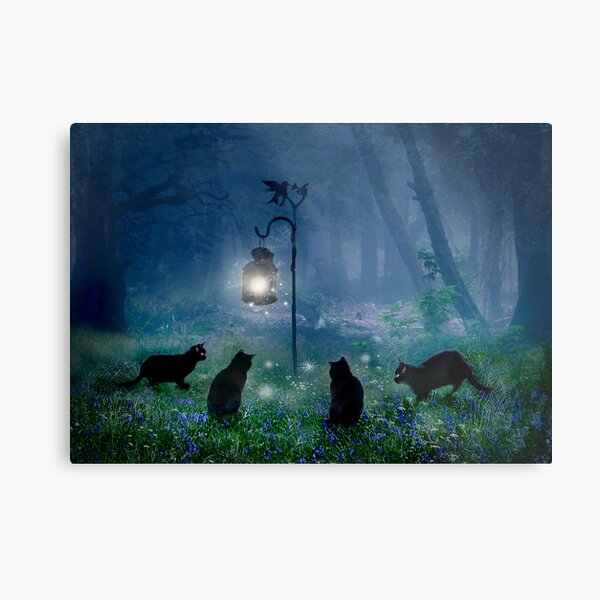 The Witches Cats Metal Print